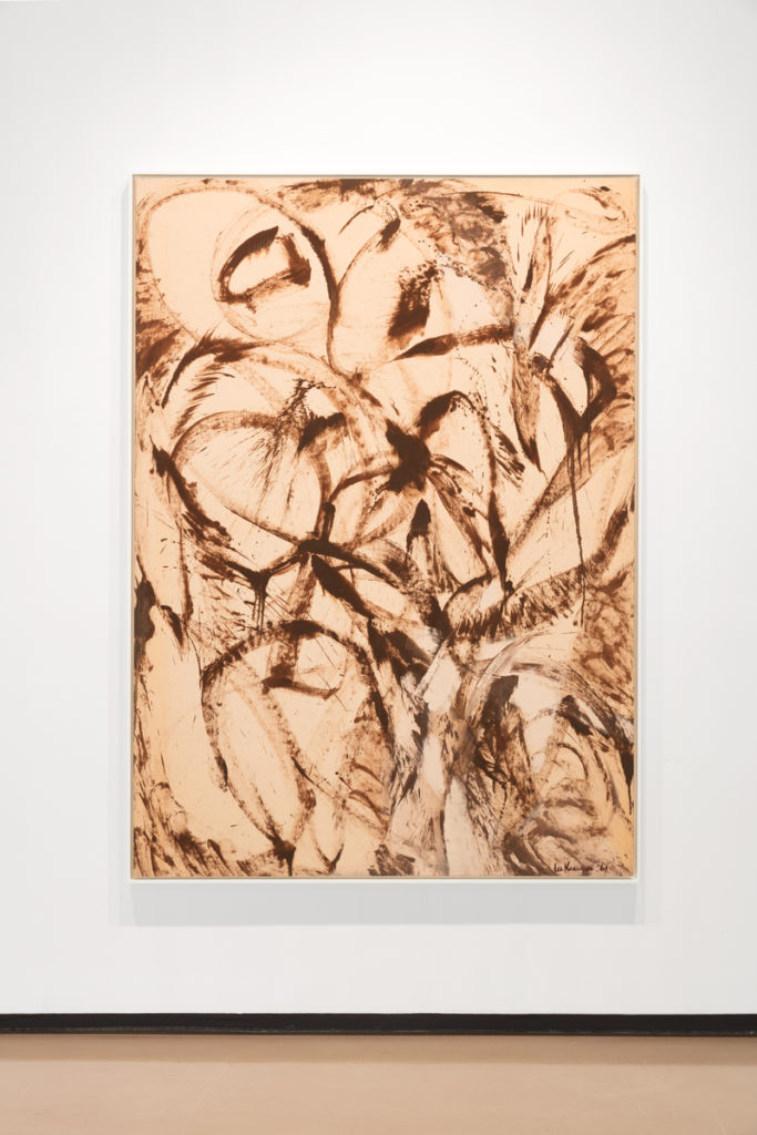 Lee Krasner, Assault On the Solar Plexus (1961), installation view. © 2017 The Pollock-Krasner Foundation/Artists Rights Society (ARS), New York. Photo courtesy of Paul Kasmin Gallery.