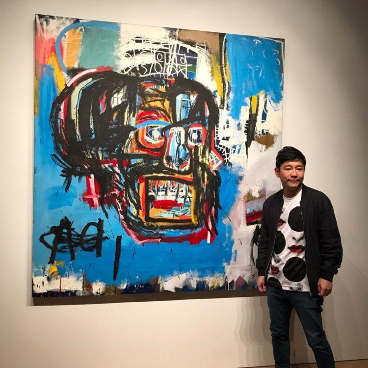 前澤悠坂(Yusaka Maezawa)和他倍受讚譽的巴斯奎特(Basquiat),《無題》(Untitled,1982年)。 圖片由@ yusaku2020提供。