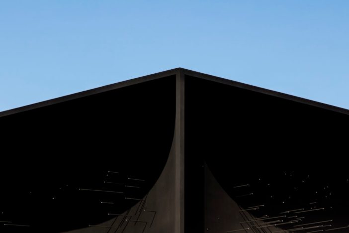 Asif Khan, Hyundai Pavilion featuring Vantablack at the Pyeongchang Winter Olympics. Photograph courtesy of Luke Hayes/Hyundai.