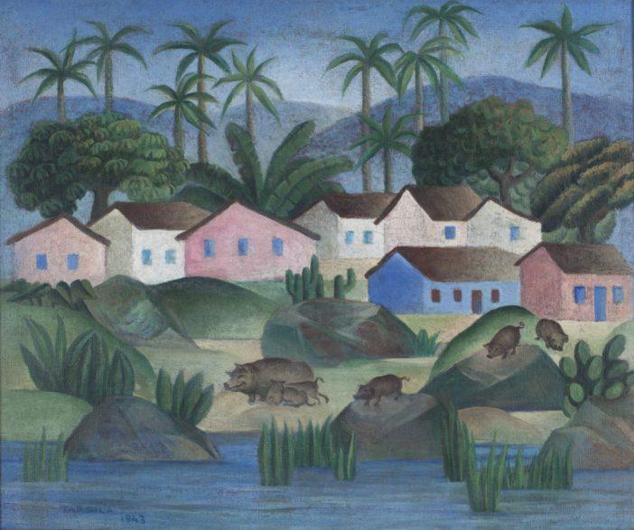 Tarsila do Amaral,Fazenda(1943), coleção privada