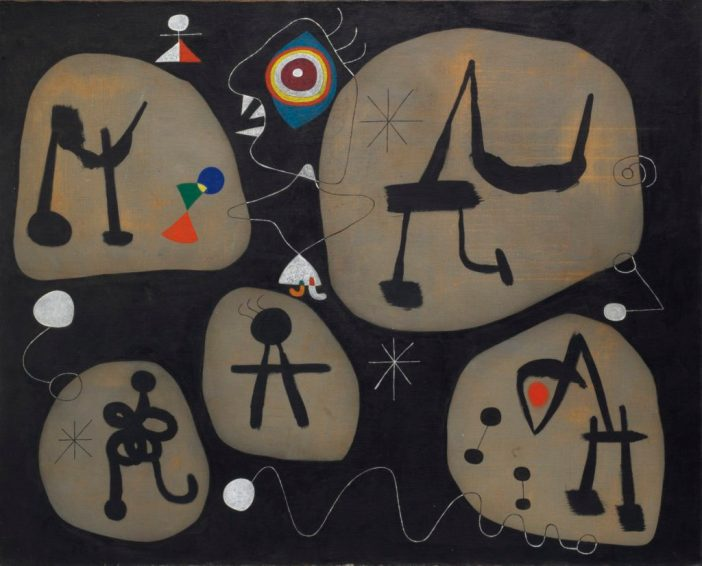 Joan Miró's Femme entendant de la musique (1945). Courtesy of Christie's.