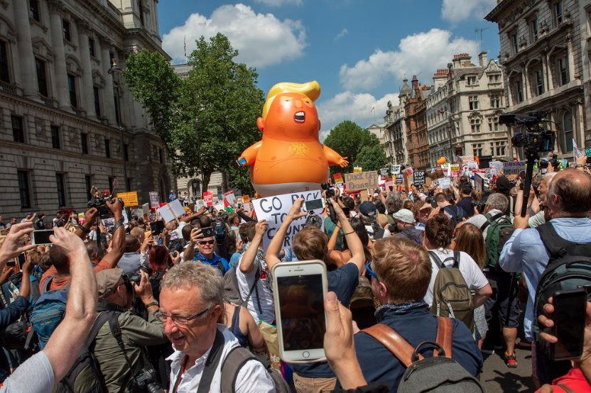 Trump Baby in London. Photo courtesy of the Trump Baby UK Twitter account.