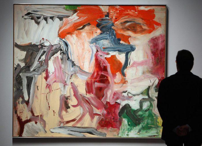 """Willem de Kooning é conhecido por suas obras-primas do Expressionismo Abstrato, como esta tela, """"Untitled XXIII"""", na foto em exibição na Christie's, em novembro de 2007."""