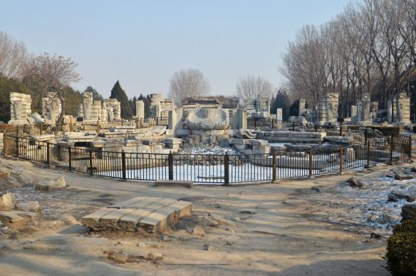 The ruins of Beijing's Old Summer Palace in 2013. Photo courtesy of 颐园新居 via Wikimedia Commons.