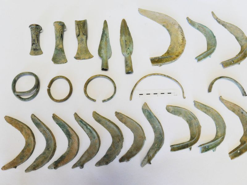 Bronze Age artifacts discovered by a local dog named Monty. Image courtesy of Hradec Králové Region.