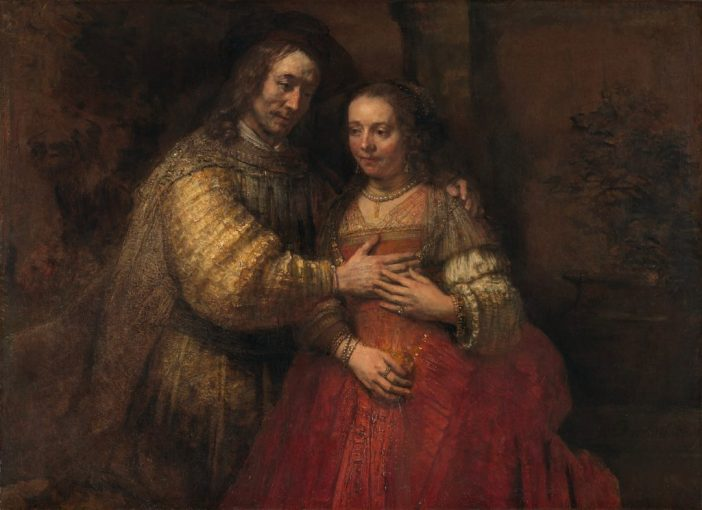 Rembrandt van Rijn, Isaac and Rebecca, Known as The Jewish Bride (ca. 1665–ca. 1669). On loan from the City of Amsterdam (A. van der Hoop Bequest).