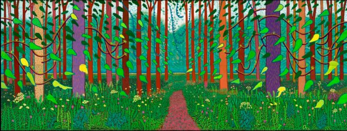 David Hockney, The Arrival of Spring in Woldgate, East Yorkshire in 2011 (twenty eleven) ©David Hockney. Photo by Richard Schmidt.