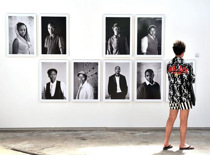Pictures by South African photographer Zanele Muholi at the 43rd annual Rencontres d'Arles photography festival in France. Photo by Gerard Julien/AFP/Getty Images.