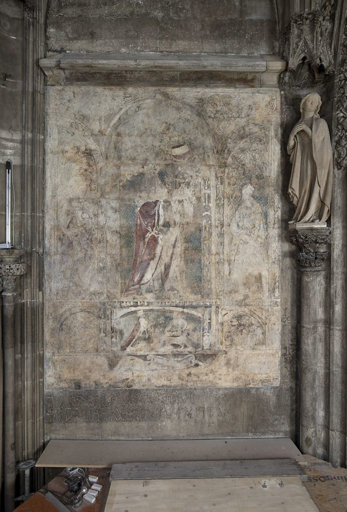 This painting was recently discovered in the giftshop at St. Stephen's Cathedral, Vienna's Stephansdom. The underdrawing of the two side panels is likely the work of Albrecht Dürer. Photo ©Dombauhütte zu St Stephan.