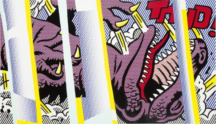 Roy Lichtenstein, Reflections on Thud! (1990). Courtesy of Sotheby's Hong Kong