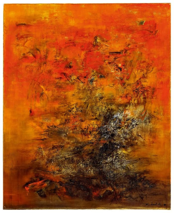 Zao Wou-Ki,12.04.60(1960). Courtesy of Poly Auction Hong Kong.