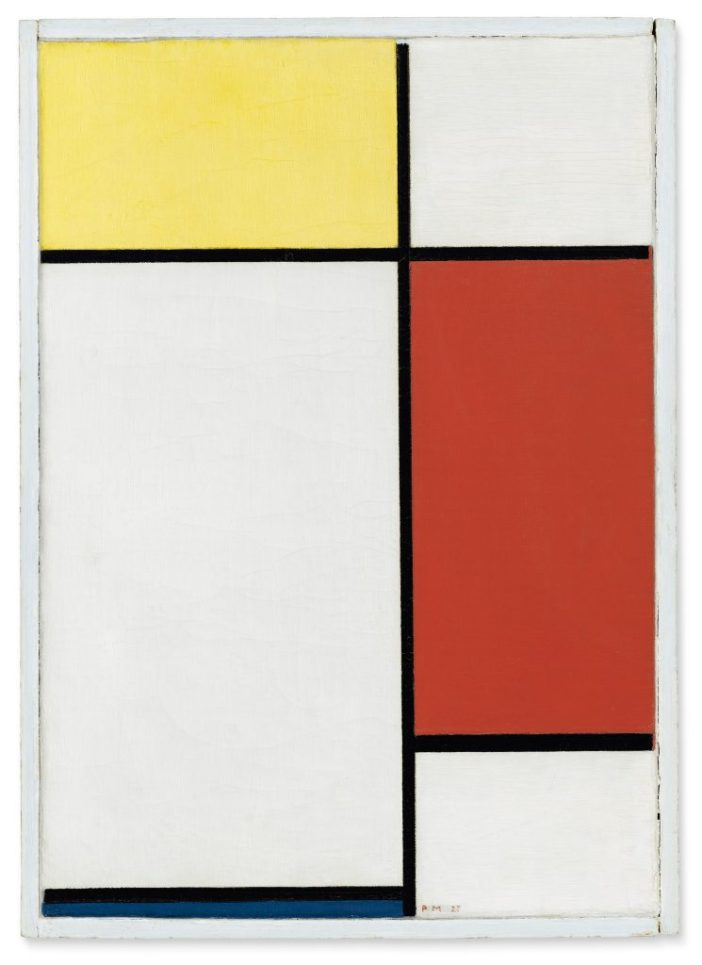 Piet Mondrian, Composition: No. II, With Yellow, Red and Blue (1927). Courtesy of Christie's Images, Ltd.