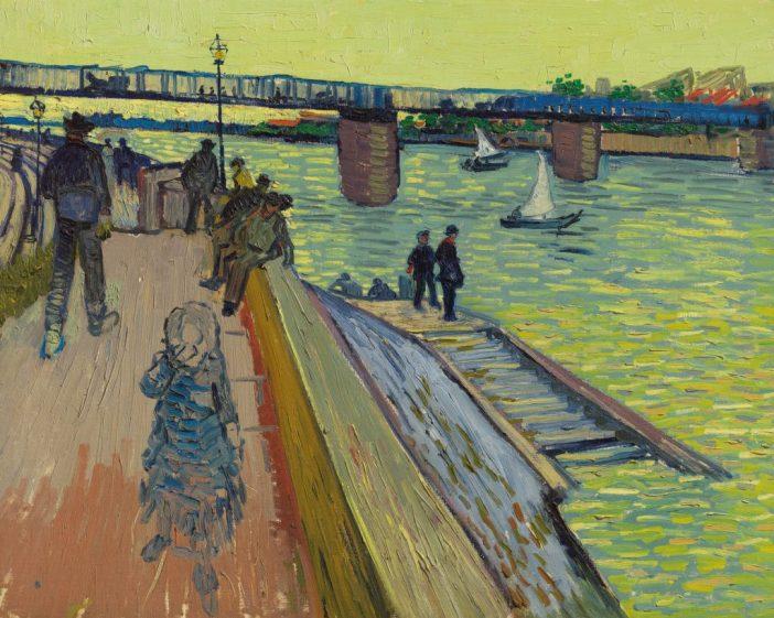 Vincent Van Gogh,Le pont de Trinquetaille(ca. 1888). Courtesy of Christie's Images, Ltd