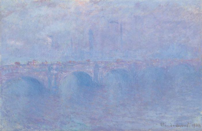 Claude Monet, Waterloo Bridge effet de brouillard (1899-1903). Courtesy of Christie's Images, Ltd.