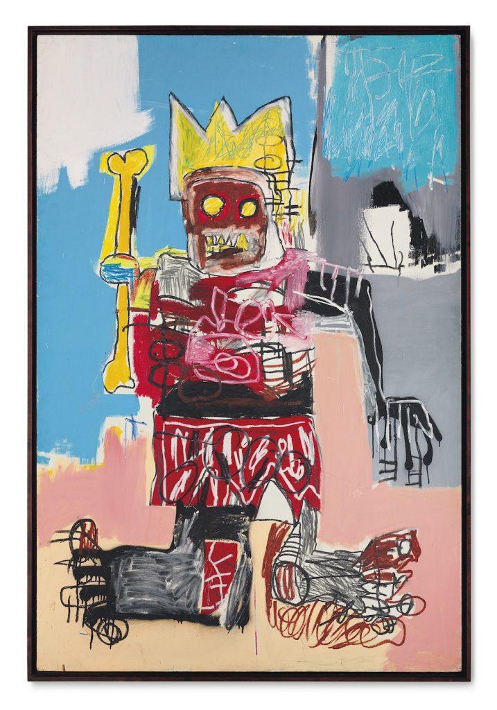 讓·米歇爾·巴斯奎特(Jean-Michel Basquiat),<i>無題</ i>(1982年)。 圖片由佳士得影像有限公司提供。