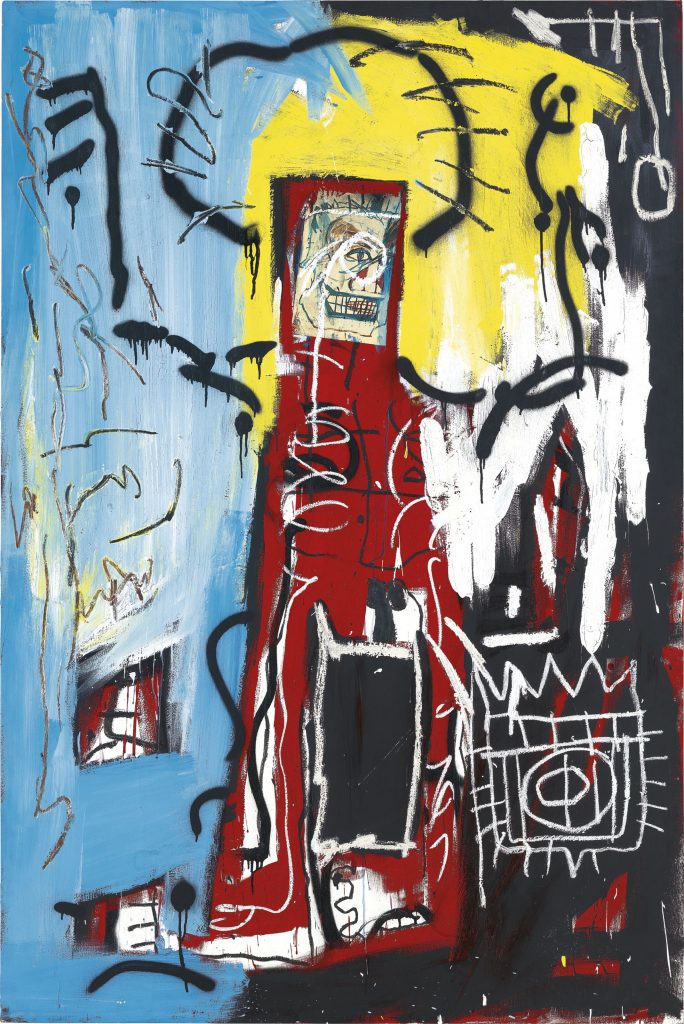 Jean-Michel Basquiat,<i>Untitled (One Eyed Man or Xerox Face)</i> (1982). Courtesy of Christie's Images, Ltd.