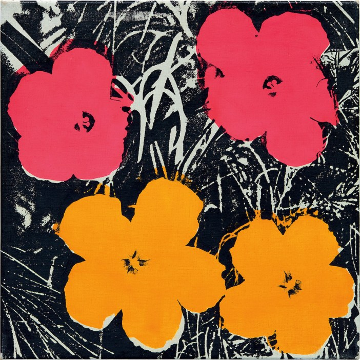 Andy Warhol Flowers (1964-65). Image courtesy Phillips.