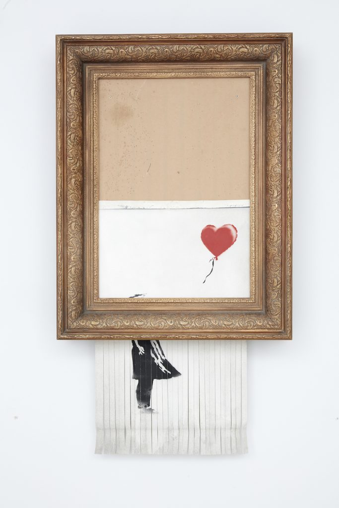 Banksy, Love Is In The Bin Image courtesy Sotheby's