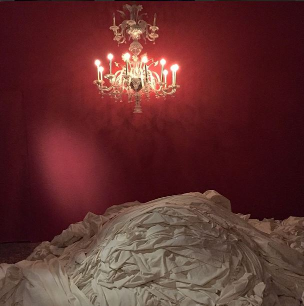 """#ShilpaGupta at #MyEastIsYourWest at #PalazzoBenzon #biennaledivenezia #venicebiennale"" - @frederic_net"