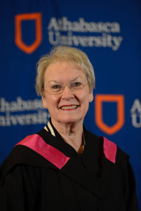 image of lynn keating in convocation robe