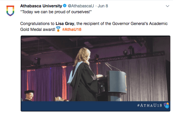 image of instagram post congratulating lisa gray