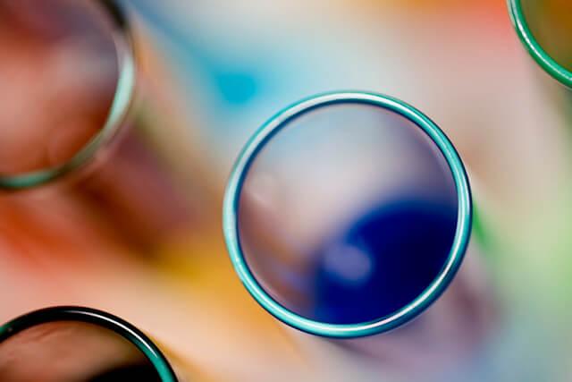image of chemist's flasks