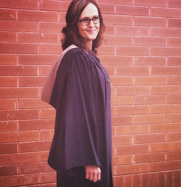 marni in grad gown
