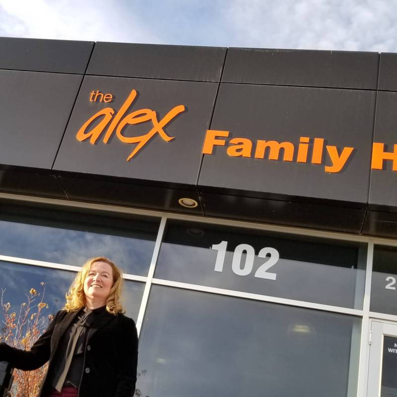 Joy Bowen-Eyre says she might never have landed a job as CEO of The Alex, a prominent Calgary social agency, without her master degree from AU.