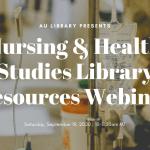 Nursing and Health Studies Library Orientation Webinar