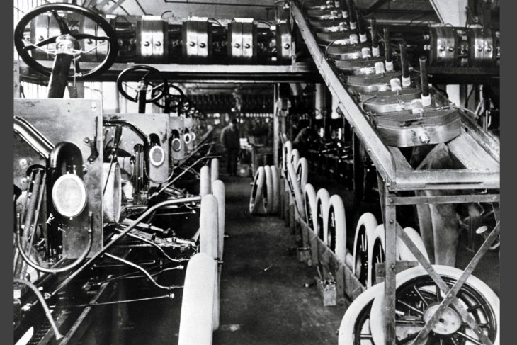 Первый конвейер форда год рольганг подачи