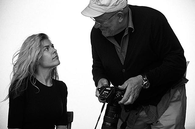 Анастасия Игнатова и Питер Линдберг на съемках календаря Pirelli-2017
