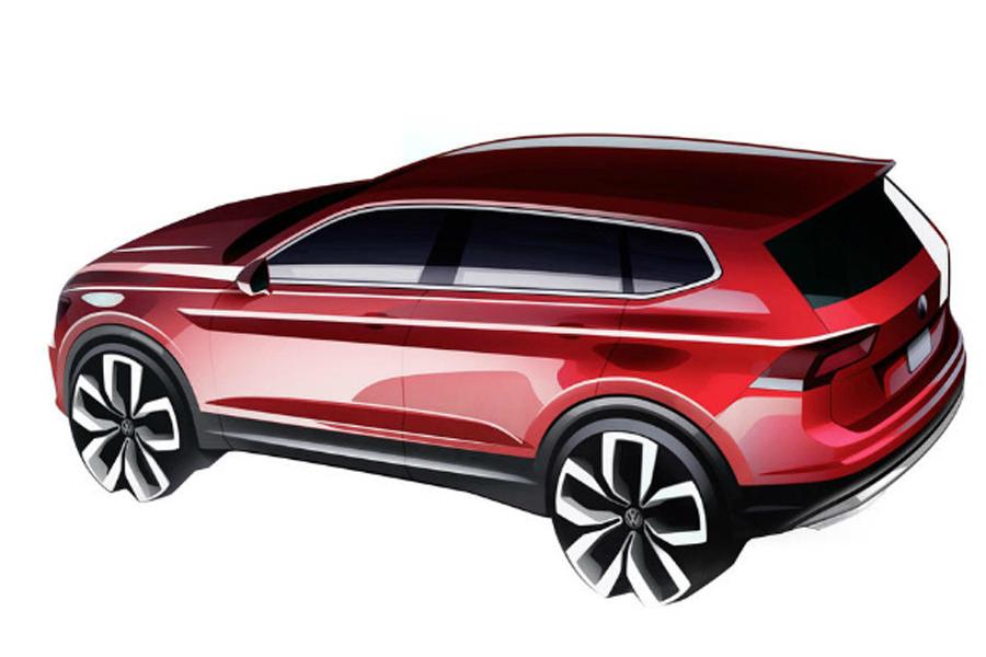 Дизайн-скетч Volkswagen Tiguan Allspace