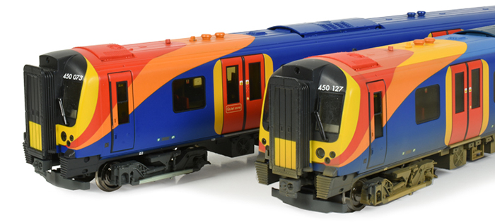 Bachmann 31-041 Class 450 4 Car EMU 450127 South West Trains Weathered