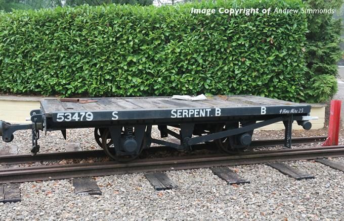 393-176 RNAD Flat Wagon Statfold Barn Railway Grey 'Serpent B'
