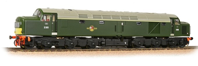 Bachmann Europe - OO Scale 32-485 - Class 40 Centre Headcode D365 BR Green (Small Yellow Panels)