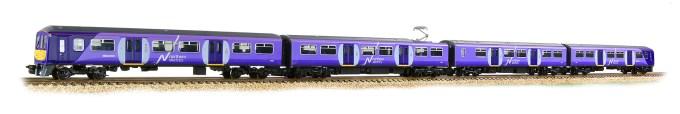 Graham Farish N Scale 372-877 Class 319 4-Car EMU 319362 Northern Rail full 4 car shot