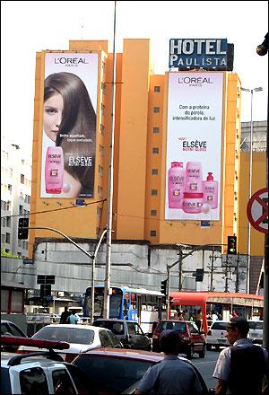 Publicidad inunda Sao Paulo