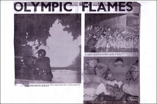 Las fotografias que salieron publicadas en el periódico británico London Evening News tras la matanza de Tlatelolco ilustran la violencia con la que actuó el ejército contra los estudiantes el 2 de octubre de 1968.