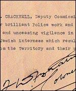 Commendation for Inspector Cracknell