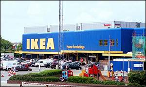 A typical Ikea outlet store