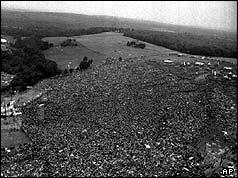 Împuşcat aeriană a festivalului Woodstock - 17 august 1969