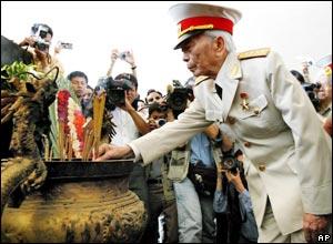 General Vo Nguyen Giap at Dien Bien Phu