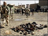 伊拉克自殺炸彈攻擊現場