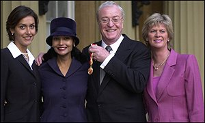 Image result for michael caine being knighted
