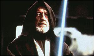 Sir Alec Guinness as Jedi Master Obi-Wan Kenobi