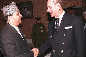 HM The King with HRH The Duke