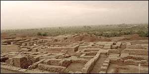 Excavated Harrapan remains (Picture: North Park University)