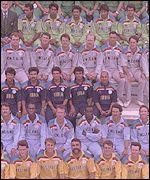 The teams at the 1992 World Cup in Australia