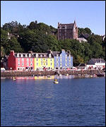 [ image: Tobermory on Mull: The men went to a dance on the island]