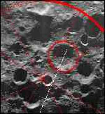 [ image: The Moon's south pole: Shoemaker's resting place]